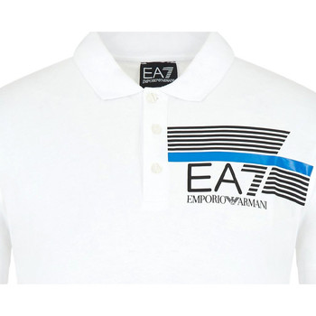textil Herr Kortärmade pikétröjor Ea7 Emporio Armani 3HPF17 PJ02Z Vit