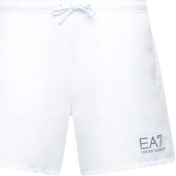 textil Herr Badbyxor och badkläder Ea7 Emporio Armani 902000 CC721 Vit