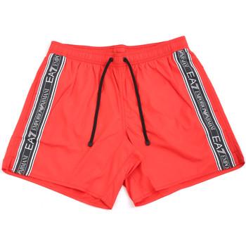 textil Herr Badbyxor och badkläder Emporio Armani EA7 902000 0P734 Röd