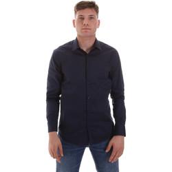 textil Herr Långärmade skjortor Sseinse CE506SS Blå