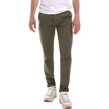 textil Herr Chinos / Carrot jeans Sseinse PSE555SS Grön