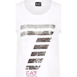 textil Dam T-shirts Ea7 Emporio Armani 3HTT41 TJ12Z Vit