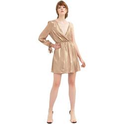 textil Dam Korta klänningar Fracomina FR20SP453 Guld