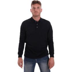 textil Herr Långärmade pikétröjor  Navigare NV82109 Blå