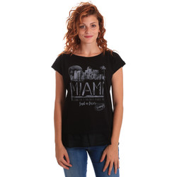 textil Dam T-shirts Key Up 5Z10S 0001 Svart