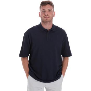 textil Herr Kortärmade pikétröjor Les Copains 9U9016 Blå
