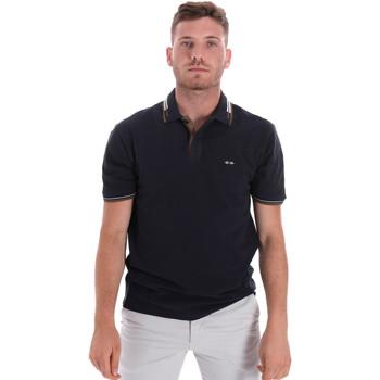 textil Herr Kortärmade pikétröjor Les Copains 9U9021 Blå