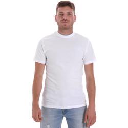 textil Herr T-shirts Les Copains 9U9013 Vit
