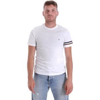 textil Herr T-shirts Les Copains 9U9014 Vit