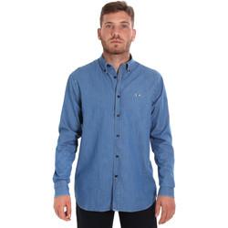 textil Herr Långärmade skjortor Les Copains 9U2361 Blå