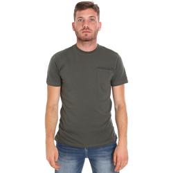 textil Herr T-shirts Les Copains 9U9010 Grön