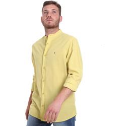 textil Herr Långärmade skjortor Les Copains 9U2722 Grön