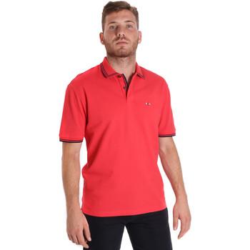 textil Herr Kortärmade pikétröjor Les Copains 9U9020 Röd