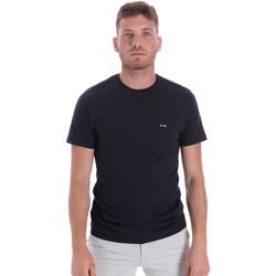textil Herr T-shirts Les Copains 9U9011 Blå