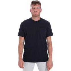 textil Herr T-shirts Les Copains 9U9010 Blå