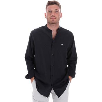 textil Herr Långärmade skjortor Les Copains 9U2722 Blå