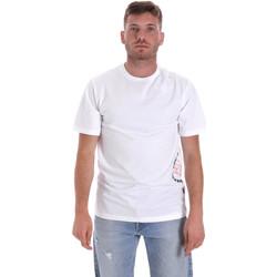 textil Herr T-shirts Converse 10018872-A02 Vit