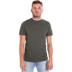textil Herr T-shirts Les Copains 9U9013 Grön