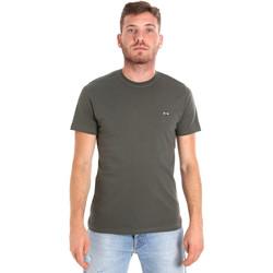 textil Herr T-shirts Les Copains 9U9011 Grön
