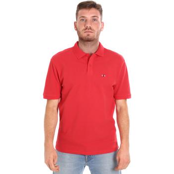 textil Herr Kortärmade pikétröjor Les Copains 9U9015 Röd