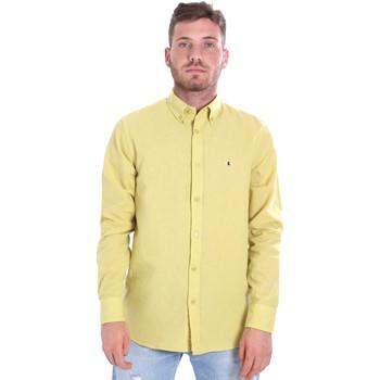 textil Herr Långärmade skjortor Les Copains 9U2371 Gul