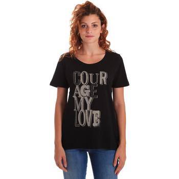 textil Dam T-shirts Key Up 5Z19S 0001 Svart