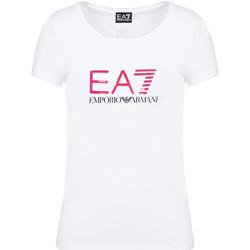 textil Dam T-shirts Ea7 Emporio Armani 8NTT63 TJ12Z Vit