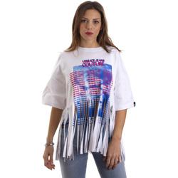 textil Dam T-shirts Versace B2HVB7V730384003 Vit