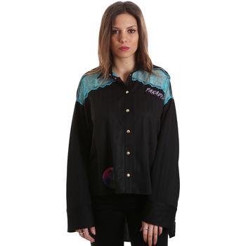 textil Dam Skjortor / Blusar Versace B0HVB60310623899 Svart
