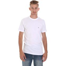 textil Herr T-shirts Les Copains 9U9011 Vit