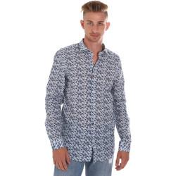textil Herr Långärmade skjortor Sseinse CE508SS Blå