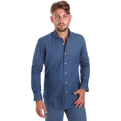 textil Herr Långärmade skjortor Betwoin DENIM78 6635535 Blå