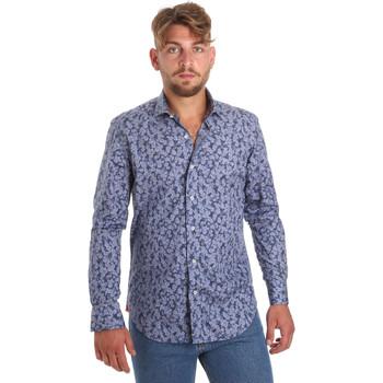 textil Herr Långärmade skjortor Betwoin D066 6635535 Blå