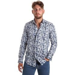 textil Herr Långärmade skjortor Betwoin SELZ 6635535 Blå