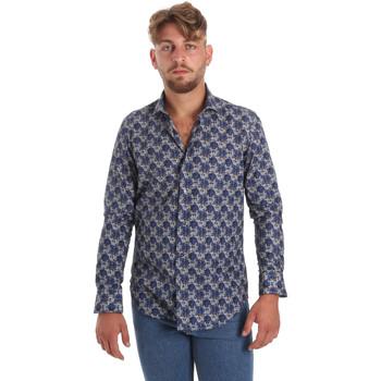 textil Herr Långärmade skjortor Betwoin DB111 Blå
