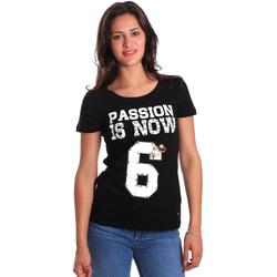 textil Dam T-shirts Gaudi 811FD64056 Svart