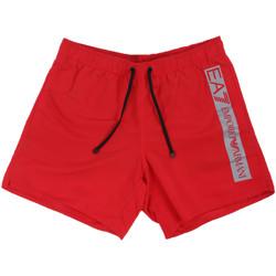 textil Herr Badbyxor och badkläder Ea7 Emporio Armani 902000 0P732 Röd