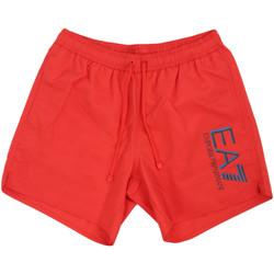 textil Herr Badbyxor och badkläder Ea7 Emporio Armani 902000 0P738 Röd