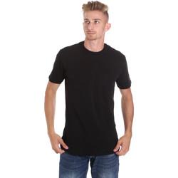 textil Herr T-shirts Les Copains 9U9010 Svart