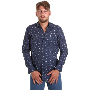 textil Herr Långärmade skjortor Betwoin D092 6635535 Blå
