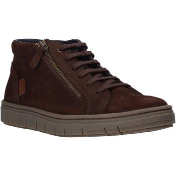 Skor Herr Höga sneakers Grunland PO1717 Brun