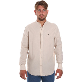 textil Herr Långärmade skjortor Les Copains 9U2722 Beige