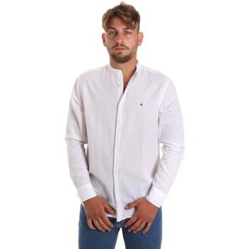 textil Herr Långärmade skjortor Les Copains 9U2722 Vit