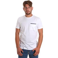 textil Herr T-shirts Antony Morato MMKS01798 FA100212 Vit