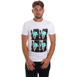 textil Herr T-shirts Antony Morato MMKS01743 FA120001 Vit