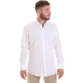 textil Herr Långärmade skjortor Les Copains 20P.689 P700SL Vit