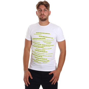 textil Herr T-shirts Antony Morato MMKS01749 FA120001 Vit