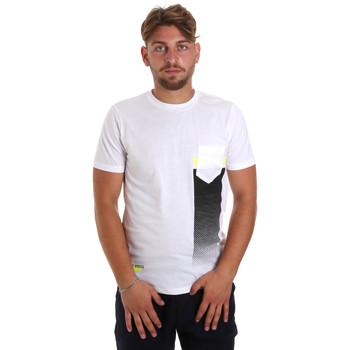 textil Herr T-shirts Antony Morato MMKS01794 FA100189 Vit