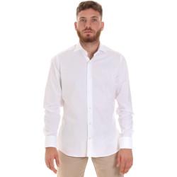 textil Herr Långärmade skjortor Les Copains 000.076 P3196 Vit