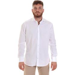 textil Herr Långärmade skjortor Les Copains 000.006 P3196SL Vit